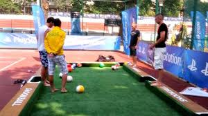 soccer meet billiards new hybrid game a must see the18