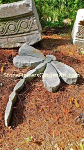Dragonfly Garden Stone Flowers Garden Art By Dave450 On Etsy