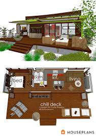 modern tiny house plans home office