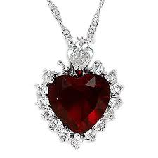 long red heart necklace images Red heart necklace amazon co uk jpg