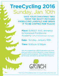 grinch annual christmas tree recycling chestnut hill