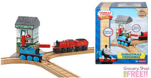 fisher price thomas train wooden railway christmas crossings