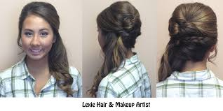 prom hairstyles side curls side ponytail with braid and volume wedding prom and special
