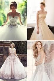 20 romantic wedding dresses featuring colorful embellishments