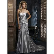 silver dresses for a wedding satin silver wedding dress dresscab
