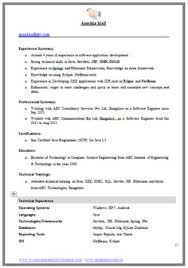 Job Objective On Resume by Best Resume Format Doc Resume Computer Science Engineering Cv Best