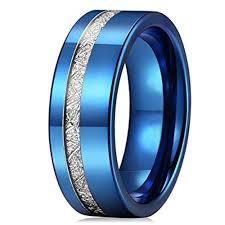 mens wedding rings 8mm unisex or men s tungsten wedding band blue tone inspired