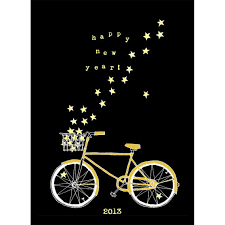 new year s cards bike and new year s card one of 9 great options on etsy
