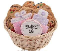 basket gifts sweet 16 cookie gift basket
