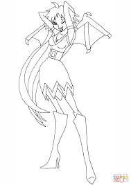 winx club vampire fairy coloring page free printable coloring pages