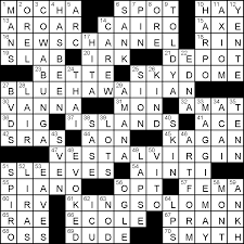 crossword puzzle thanksgiving wednesday march 16 2016