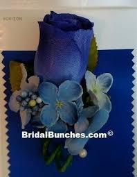 blue boutonniere royal blue horizon blue light blue hydrangea