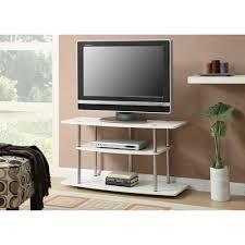 convenience concepts designs2go white wood grain entertainment