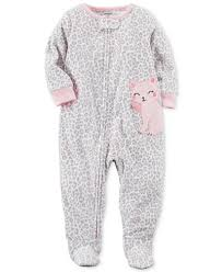 s 1 pc leopard print cat footed pajamas toddler 2t