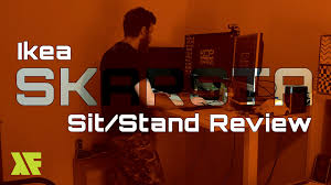 Sit Stand Desk Ikea by Skarsta Sit Stand Desk Review Ikea Youtube