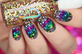 simply nailogical u0027v u0027 shaped loose glitter placement nails