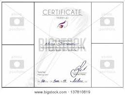 make up course pleted certificate template makeup artist blank a4 vector diploma design