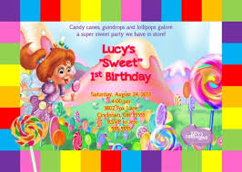 candyland castle candy land candy castle birthday party invitation boy girl add