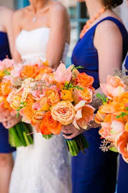 wedding flowers inc wedding wednesday orange wedding flowers for fall flirty