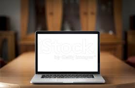 Laptop On Desk Front View Of Laptop On Desk Stock Photos Freeimages