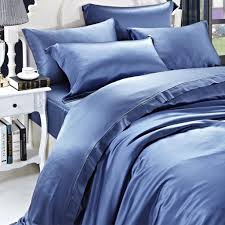 luxuer silk duvet cover handmade pure mulberry silk royal blue