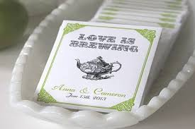 tea bag favors bridal shower favors tea bags wedding