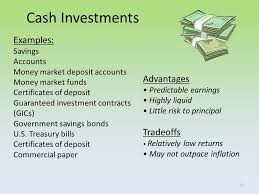 savings and cash investments personal finance modified march ppt