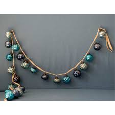 creative co op blue mercury glass garland from elizabeth s