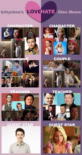 Glee Meme - glee love hate meme by mizzd on deviantart