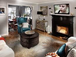 Living Room Setup With Fireplace by Glamorous Transitional Living Room Natasha Eustache Garner Hgtv
