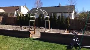 Pvc Pipe Trellis Easy Build Garden Arch Trellis Youtube