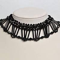 black bead collar necklace images Handmade jewelry making videos tutorial jpg