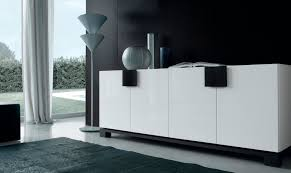 Black Contemporary Sideboard Contemporary Sideboard Wooden Lacquered Wood Woody By Sergio