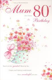 mum 80th birthday birthday card amazon co uk kitchen u0026 home