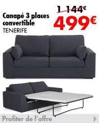 canape en promo canapé convertible 3 places california prix promo alinea 599 00