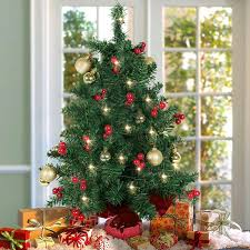 looking tabletop trees artificial decorated 2016