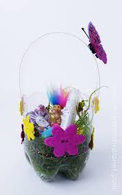 baskets for easter plastic bottle diy easter baskets