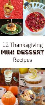 mini thanksgiving desserts