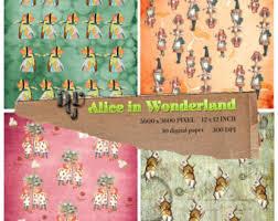 Alice In Wonderland Baby Shower Decorations - alice in wonderland digital papers pastel instant download