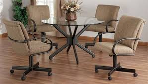 Kitchen Chairs On Wheels Swivel Impressive Ideas Rolling Dining Room Chairs Cool Inspiration