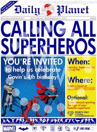 superhero birthday invitations u2013 gangcraft net