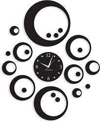 blacksmith nbs 159 black black many circles designer analog wall