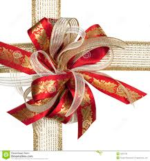 red and gold christmas bow royalty free stock photo image 10827695