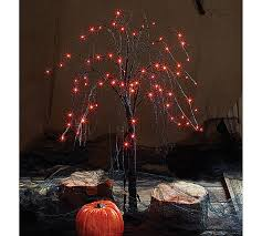 led black tree w orange light