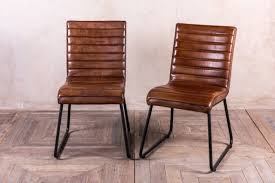 Leather Dining Chair Brown Leather Dining Chair Stylish Light Chairs Home
