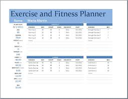Simple Excel Spreadsheet Template Workout Char Template Free Printables Free Exercise Chart Or Ms
