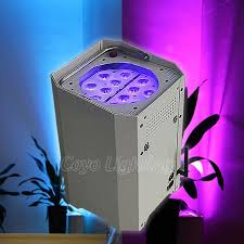 outdoor wireless battery powered led uplighting for wedding