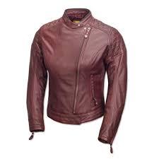 roland sands riot ladies leather jacket oxblood