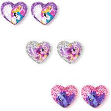 my pony earrings my pony glitter heart stud earrings set of 3 s