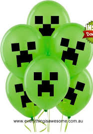 minecraft balloons everything is awesome new 10 pcs minecraft creeper balloons